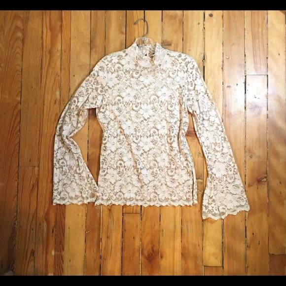 Cami Tops - Cami Lace mock Turtleneck Long Sleeve Top